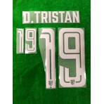 Official PLAYER ISSUE D.TRISTAN #19 Thailand Away 2019 PRINT