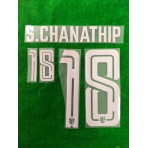 Official PLAYER ISSUE S.CHANATHIP #18 Thailand Away 2019 PRINT