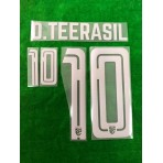 Official PLAYER ISSUE D.TEERASIL #10 Thailand Away 2019 PRINT