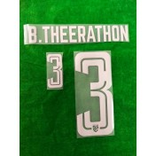 Official PLAYER ISSUE B.THEERATHON #3 Thailand Away 2019 PRINT