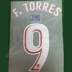 OFFICIAL F.TORRES #9 + FINAL MATCH DETAILS Atletico Madrid Home 2017-18 PRINT
