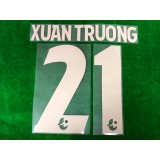 Official XUAN TRUONG #21 BURIRAM UNITED 3rd 2019 THAI LEAGUE 1 PLAYER PRINT