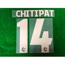 Official CHITIPAT #14 BURIRAM UNITED 3rd 2019 THAI LEAGUE 1 PLAYER PRINT