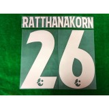 Official RATTHANAKORN #26 BURIRAM UNITED 3rd 2019 THAI LEAGUE 1 PLAYER PRINT
