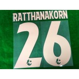 Official RATTHANAKORN #26 BURIRAM UNITED HOME 2019 THAI LEAGUE 1 PLAYER PRINT