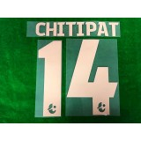 Official CHITIPAT #14 BURIRAM UNITED Home 2019 THAI LEAGUE 1 PLAYER PRINT