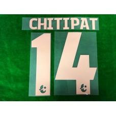 Official CHITIPAT #14 BURIRAM UNITED Home 2019 THAI LEAGUE 1 PLAYER PRINT