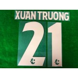 Official XUAN TRUONG #21 BURIRAM UNITED HOME 2019 THAI LEAGUE 1 PLAYER PRINT