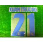 Official XUAN TRUONG #21 BURIRAM UNITED AWAY 2019 THAI LEAGUE 1 PLAYER PRINT