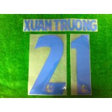 Official XUAN TRUONG #21 BURIRAM UNITED AWAY 2019 THAI LEAGUE 1 PLAYER PRINT
