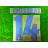 Official CHITIPAT #14 BURIRAM UNITED AWAY 2019 THAI LEAGUE 1 PLAYER PRINT