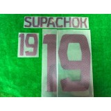 Official SUPACHOK #19 BURIRAM UNITED AWAY 2019 ACL PLAYER PRINT