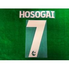 Official HOSOGAI #7 BURIRAM UNITED Home 2019 THAI LEAGUE 1 PLAYER PRINT