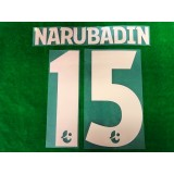Official NARUBADIN #15 BURIRAM UNITED Home 2019 THAI LEAGUE 1 PLAYER PRINT