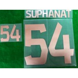 Official SUPHANAT #54 BURIRAM UNITED HOME 2019 ACL PLAYER PRINT