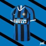 NIKE INTER MILAN FC Home 2019-2020 STADIUM  Jersey
