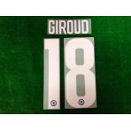 OFFICIAL GIROUD #18 Chelsea Home EUROPA LEAGUE CUP 2018-19 PRINT