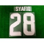 Official PLAYER ISSUE SHAFIQ #28 JDT HOME ACL 2019 PRINT