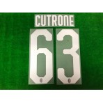 Official CUTRONE #63 AC Milan Home 2018-20 Name Number