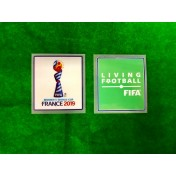 Official FIFA WOMEN'S World Cup FRANCE 2019 + LIVING FOOTBALL PLAYER ISSUE Patch