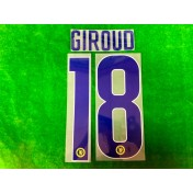 OFFICIAL GIROUD #18 Chelsea Away EUROPA LEAGUE CUP 2018-19 PRINT