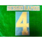 Official SERGIO RAMOS #4 Real Madrid CF Home Away 2019-20 PRINT