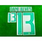 Official DANI ALVES #13 Brazil Home COPA AMERICA 2019 PRINT