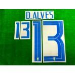 Official D.ALVES #13 Brazil 3rd COPA AMERICA 2019 PRINT