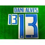 Official DANI ALVES #13 Brazil 3rd COPA AMERICA 2019 PRINT