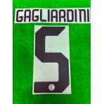 Official GAGLIARDINI #5 Inter Milan Away 2019-2020 PRINT