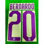 OFFICIAL BERNARDO #20 Manchester City FC HOME UCL CUP 2019-20 PRINT
