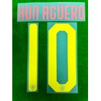 OFFICIAL KUN AGUERO #10 Manchester City FC Away UCL CUP 2019-20 PRINT