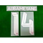 Official AUBAMEYANG #14 Arsenal FC Home CUP 2019-20 PRINT