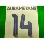 Official AUBAMEYANG #14 Arsenal FC Away CUP 2019-20 PRINT