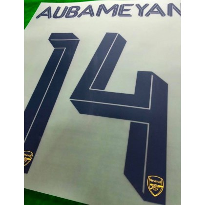 Official AUBAMEYANG #14 Arsenal FC Away CUP 2019-20 PRINT
