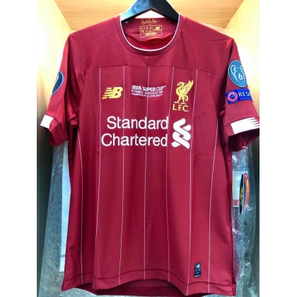 UEFA SUPER CUP 2019 Liverpool FC Home STADIUM + EMBROIDERY + PATCHES Jersey