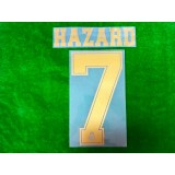 Official HAZARD #7 Real Madrid CF Home Away 2019-20 PRINT