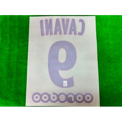 Official CAVANI #9 + OOREDOO PSG Home Ligue 1 2019-20 PRINT