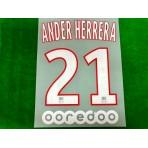 Official ANDER HERRERA #21 + OOREDOO PSG Home Ligue 1 2019-20 PRINT