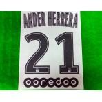 Official ANDER HERRERA #21 + OOREDOO PSG Away Ligue 1 2019-20 PRINT