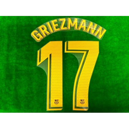 OFFICIAL PLAYER ISSUE GRIEZMANN #17 FC Barcelona Home 2019-20 PRINT