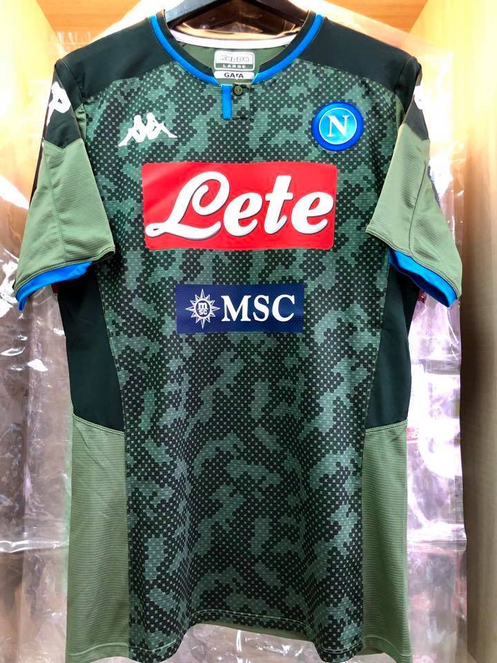 Kappa S S C Napoli Away 2019 20 Player Issue Jersey