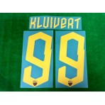 Official KLUIVERT #99 AS ROMA 3rd 2019-2020 PRINT
