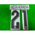 Official ANDER HERRERA #21 PSG Away UCL 2019-20 PRINT