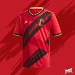 ADIDAS BELGIUM HOME 2020-21 EURO 2020 Stadium Jersey