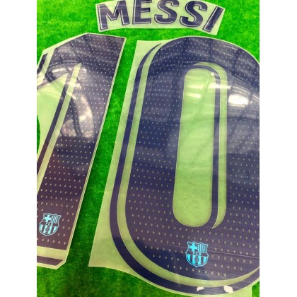 OFFICIAL PLAYER ISSUE MESSI #10 FC Barcelona 3rd 2019-20 PRINT