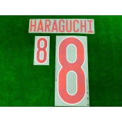 Official HARAGUCHI #8 JAPAN JFA Home 2020-21 PRINT