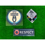 Official PLAYER ISSUE EURO 2016 CHAMPION + UNL WINNERS 2019 + RESPECT Patches