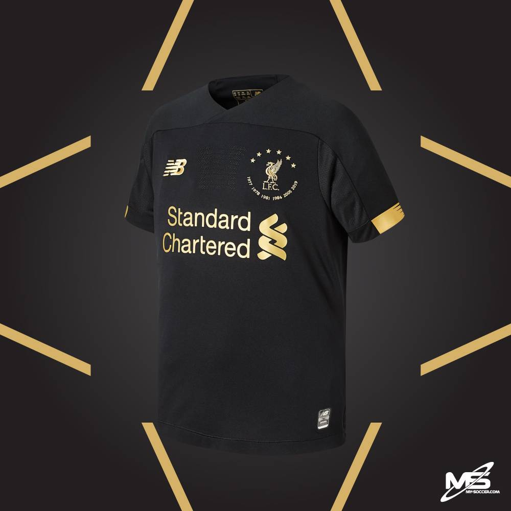 New Balance Liverpool Fc 6 Times Collection Black Gk 2019 20 Jersey