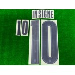 Official INSIGNE #10 Italy FIGC AWAY EURO 2020 2020-21 PRINT